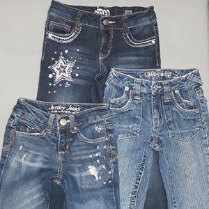 3 bundle Girls Jean's Size 7/7Slim (Stretch).